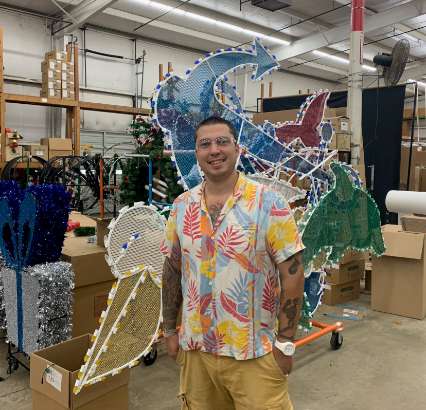 Captain Matt lead landscape lighting designer wearing a tommy bahama shirt