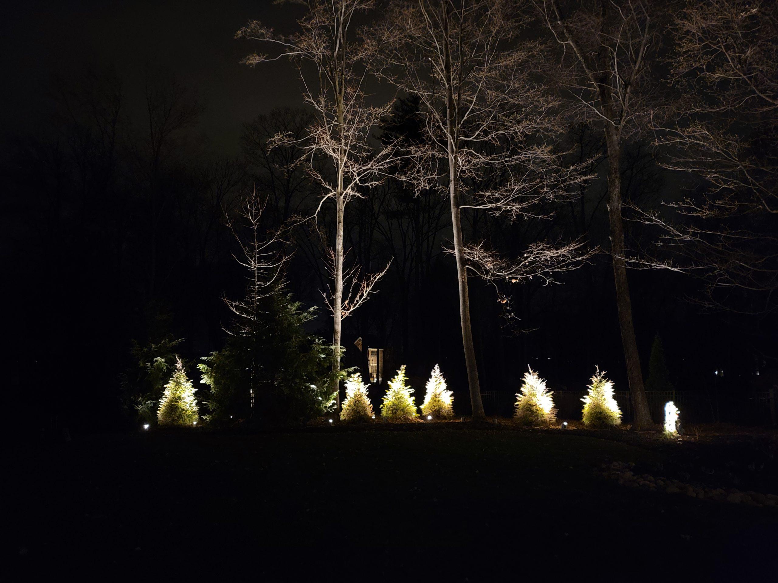 landscape lighting installed in saratoga spring ny