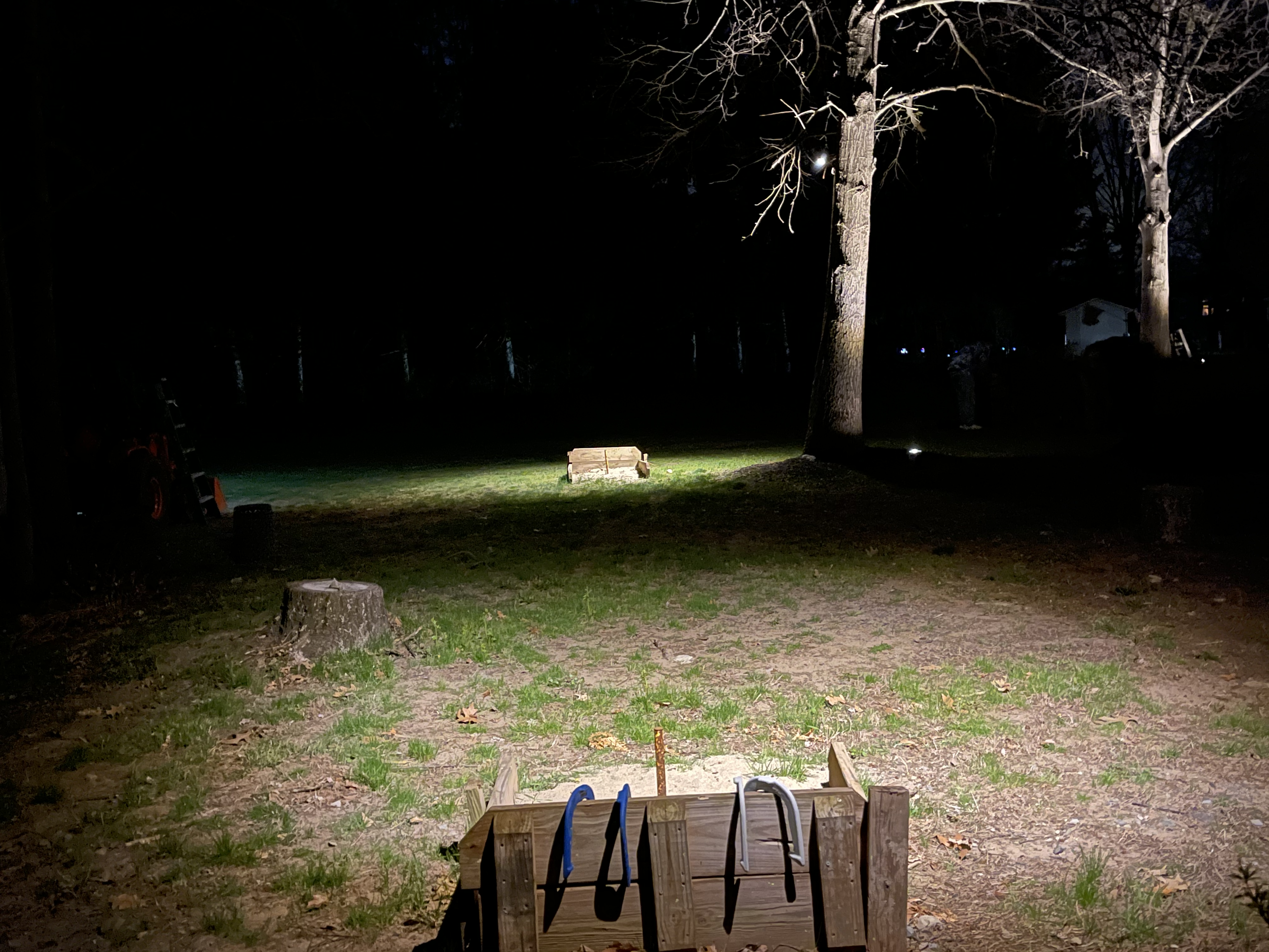 how to light up a horseshoe pit so you can play at night picture