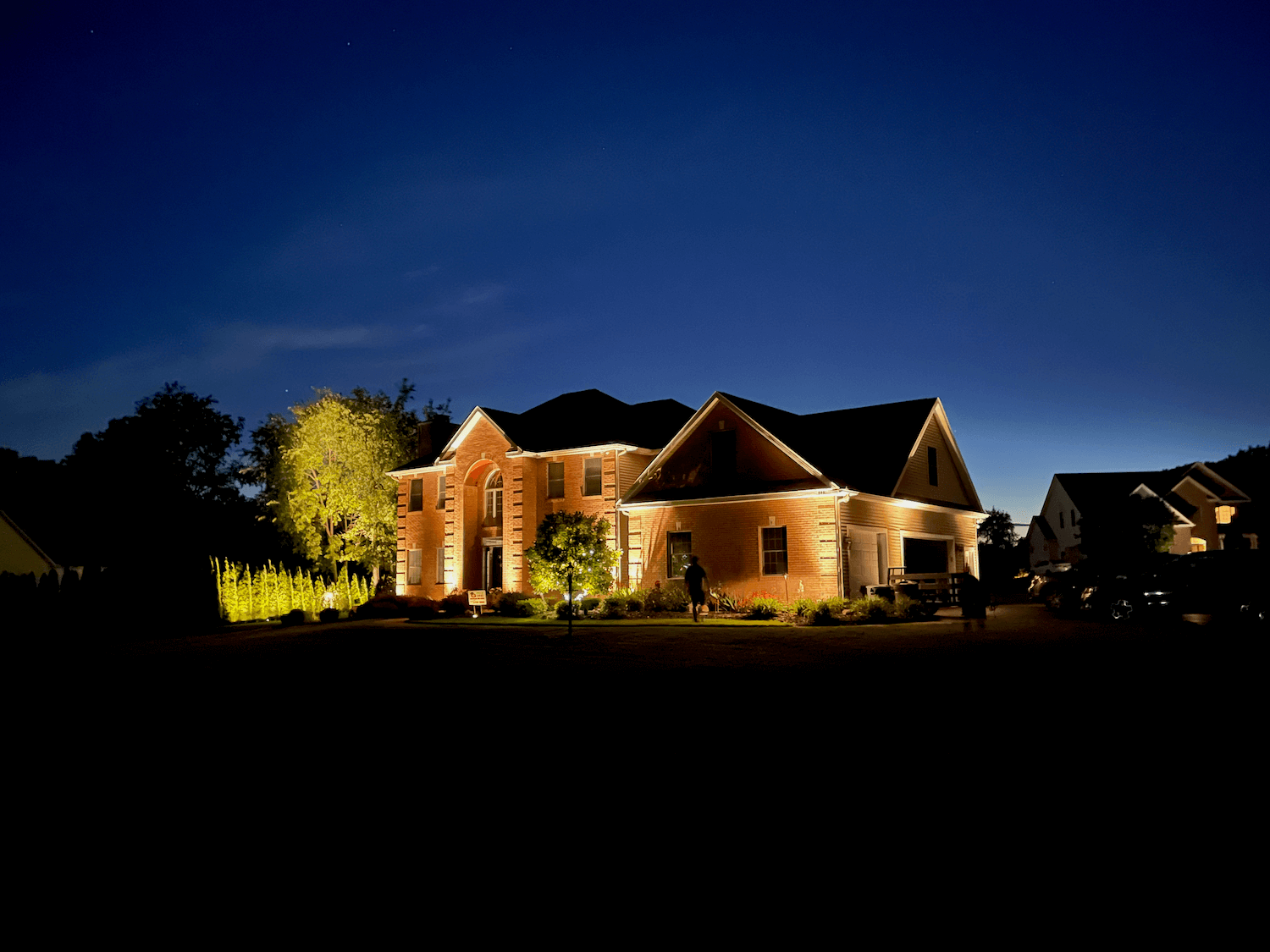 Outdoor house lighting to stand out from the neighborhood with curb appeal